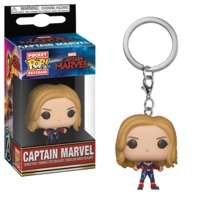 Captain Marvel (Unmasked) - Pocket Pop! Keychain