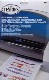 Testors Decal Paper - Clear & White