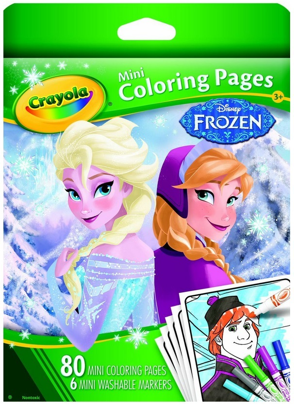 Crayola Mini Coloring Pages Frozen : Mini colouring pages frozen crayola toy at mighty ape nz