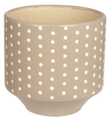 Present Time: Dots Carved Plant Pot - Warm Grey (Large)