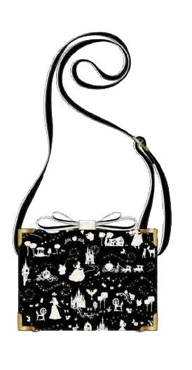 Loungefly: Cinderella - Black & White Box Crossbody