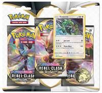 Pokemon TCG: Sword and Shield Rebel Clash Three Booster Blister- Rayquaza