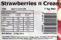Rainbow Confectionery Strawberries n Cream Lollies Bulk Bag 1kg image