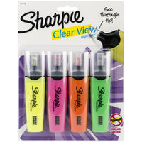 Sharpie: Clear View Highlighters 4-Pack - Assorted