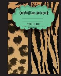 Wide Ruled Composition Notebook 8 X 10,120 Pages, Potter Style Seamless Pattern by Mind Publisher