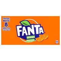 Fanta Orange Soft Drink Cans - 8 Pack (330ml) image