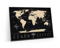 Scratch-off maps Travel Map Black World image