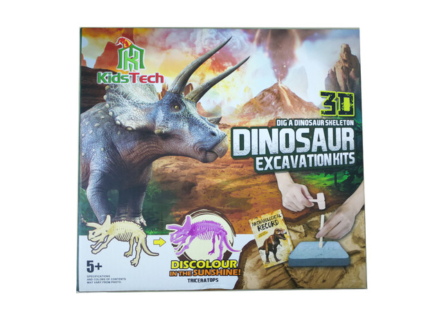 Kids Tech Dinosaur Fossil Excavation Kit - Triceratops