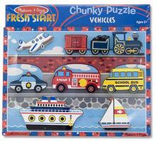 Melissa & Doug: Vehicles Chunky Wooden Puzzle
