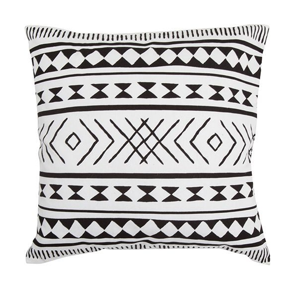 General Eclectic Cushion - Maya (B&W) image