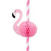 Sunnylife Honeycomb Straws - Flamingo (Set of 12)