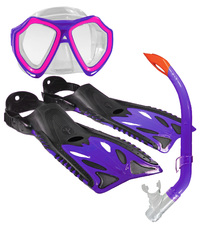Land And Sea: Adventure Mask/Snorkel/Fin Set - Small (Pink/Purple)