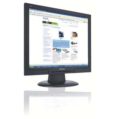 "Philips 17"" 170S8FB Black LCD Monitor with DVI image"