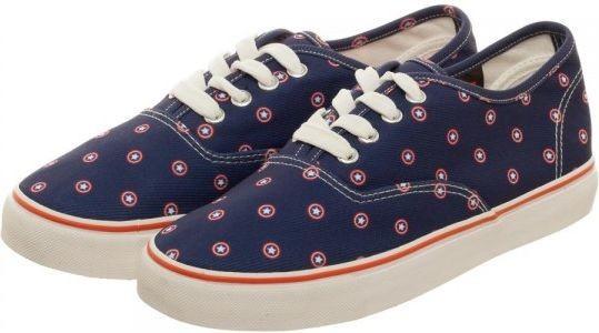 Marvel Captain America Unisex Lo Pro Shoes (Size 6)