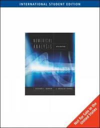 Numerical Analysis by J.Douglas Faires image