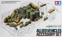 Tamiya Allied Vehicle Accessory Set 1:35 Model Kit