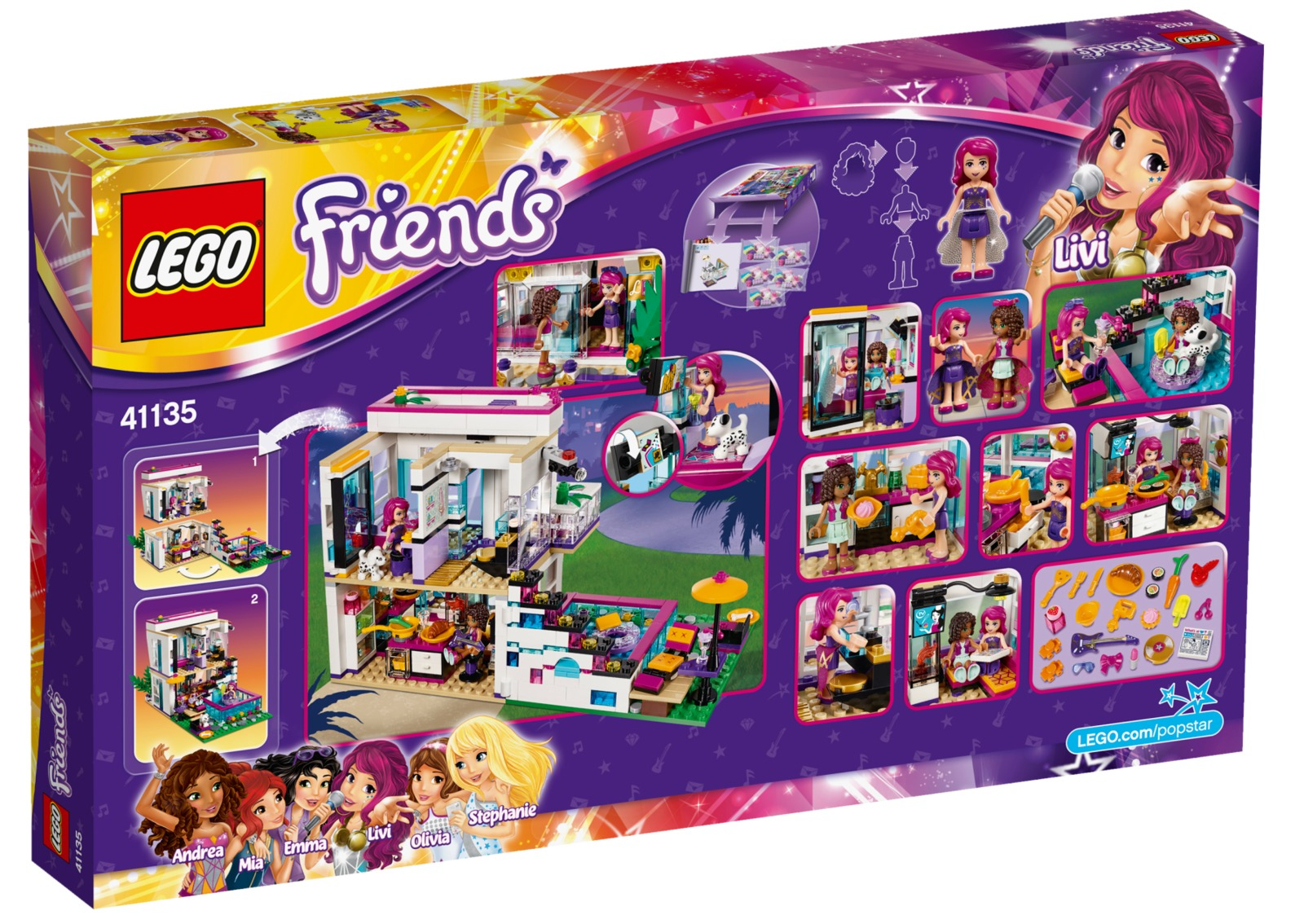 LEGO Friends - Livi's Pop Star House (41135) | Toy | at ...