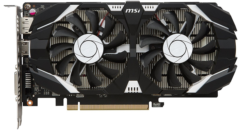 MSI GeForce GTX 1050 TI 4GB OC V1 Graphics Card image