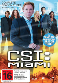 CSI - Miami: Complete Season 3 on DVD