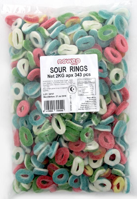 Nowco Sour Rings (2kg)