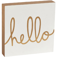 Transomnia: Chloé 'Hello' Block Sign