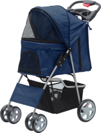 Pawise: Pet Stroller with 4 Wheels - Blue/68X46X100 cm