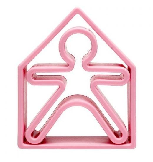 dena: Kid + House - Silicone Toy Set (Pastel Pink)