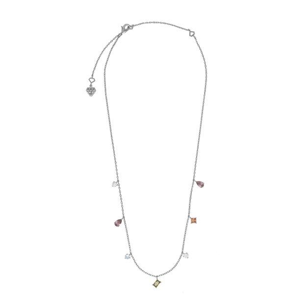 Wanderlust + Co: Aurora Silver Gem Necklace
