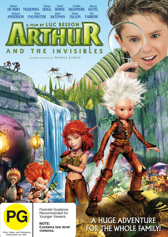 Arthur And The Invisibles on DVD