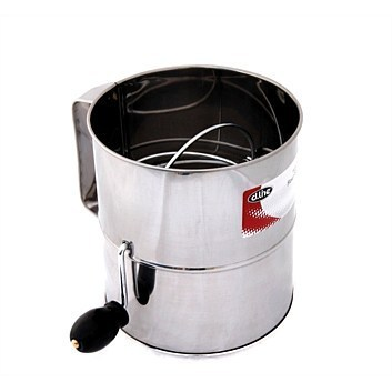 Stainless Steel 8 Cup Crank Action Flour Sifter