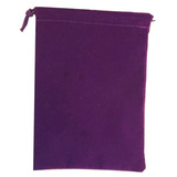 Suede Cloth Dice Bag (Small, Purple)