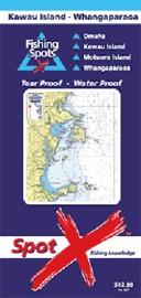 Spot X Kawau Island Whangaparoa Chart: Fishing Spots by X Spot