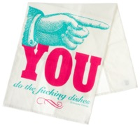 Sourpuss Dishes Tea Towel