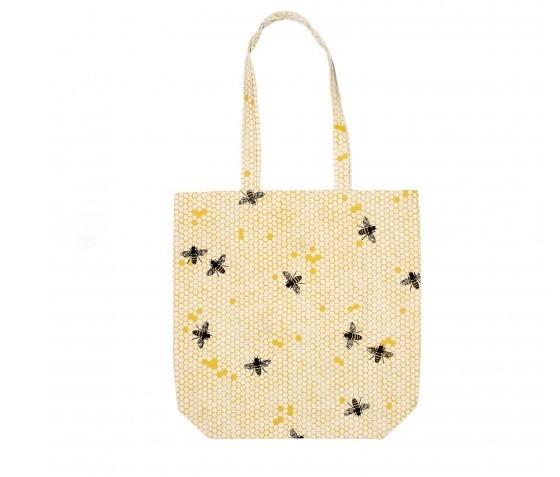 Bees Cotton Shopping Bag