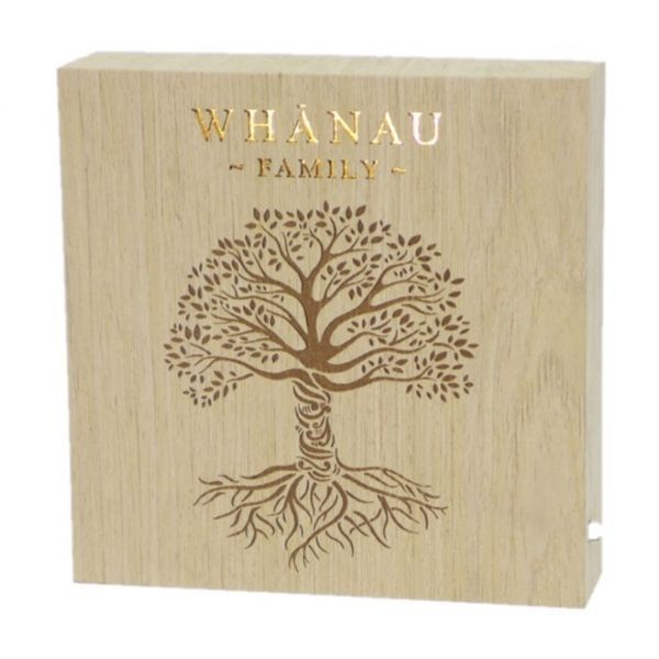 Whanau Family Wooden LED Block