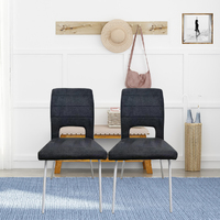 Fraser Country Modern Fabric Dining Chair Set of 2 - Charcoal