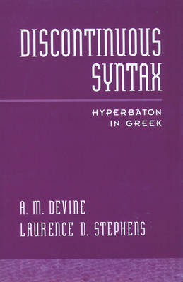 Discontinuous Syntax by A M Devine image