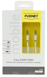Pudney: 3.5mm Stereo Plug To 3.5mm Stereo Plug 2 Metre - White