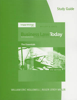 Study Guide to Accompany Business Law Today: The Essentials by Roger LeRoy Miller (Institute for University Studies, Arlington Texas) image