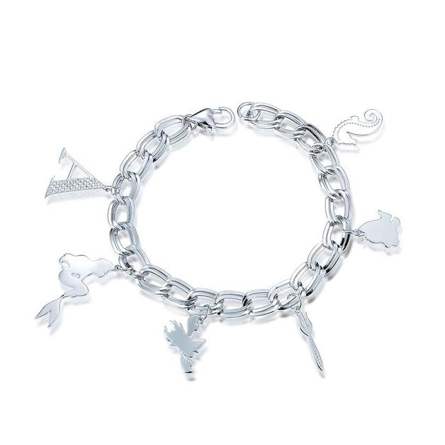 Couture Kingdom: Disney - Princess Ariel Charm Bracelet (White Gold)