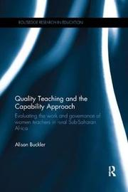 Quality Teaching and the Capability Approach by Alison Buckler image