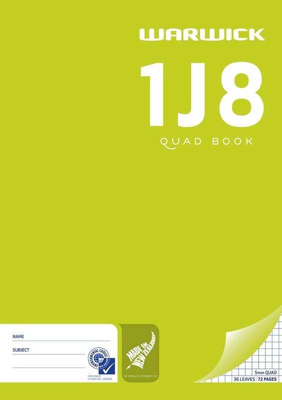 Warwick 1J8 36lf 5mm Quad Exercise Book
