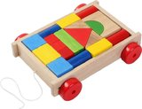 Wooden Basic Blocks On Wheels