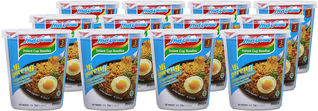Indomie Cup Noodles - BBQ Chicken (75g 12pk)