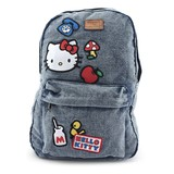 Loungefly Hello Kitty Denim Icon Patch Backpack