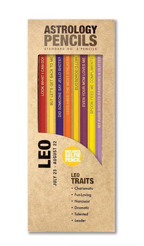 Whiskey River Co: Astrology Pencil - Leo (8 Pack)