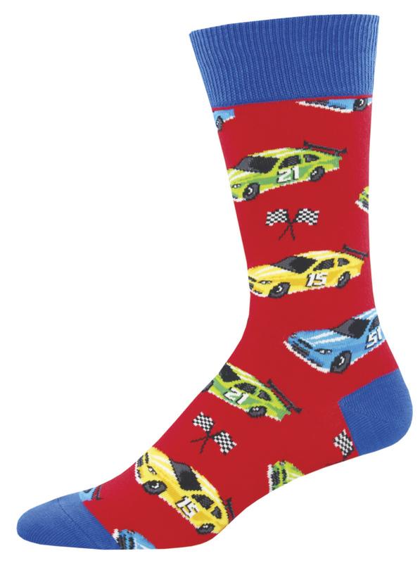 Socksmith: Men's Pit Stop Crew Socks - Red