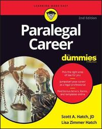Paralegal Career For Dummies by Lisa Zimmer Hatch