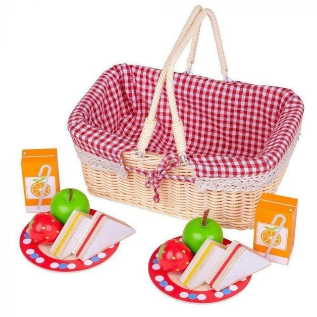 Bigjigs: Picnic Basket - Roleplay Set