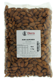 Davis Raw Almonds (1kg)